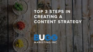 Top 3 Steps in Creating a Content Strategy | BUGG Marketing Inc.